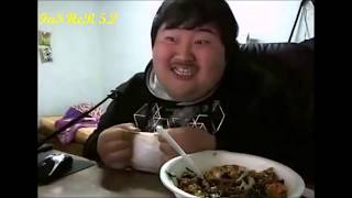 Try not to laugh: Fat Korean Guy Eats Food