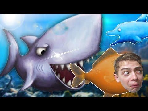 Tasty Blue АКУЛА и ДЕЛЬФ Игра мультик для детей про рыбку обжору
