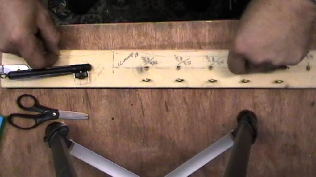 Home made fishing hook length tyer youtube for How to make a fishing hook