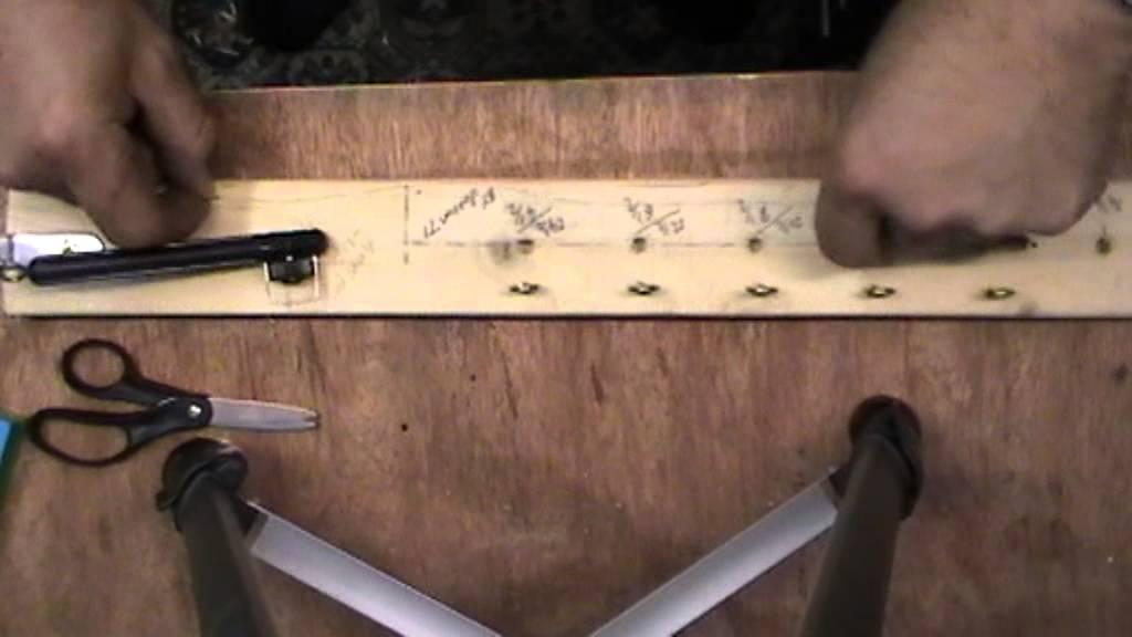 Home made fishing hook length tyer youtube for How to make fishing hooks