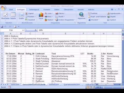 am4410 - Pivot-Tabellen in Excel 2007
