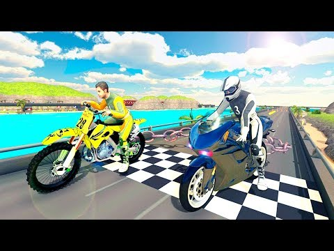 Chained Bike Rider 2017: Real Traffic Racing Games - Gameplay Android game