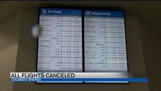 Flights canceled at DIA, Colorado Springs Airport