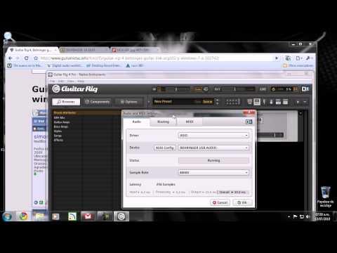 Guitar Link UCG102 en Windows 7 32Bits y Guitar Rig 4