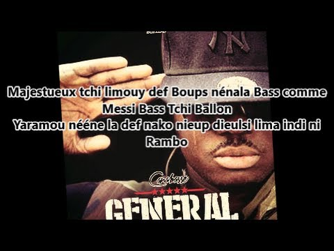 Canabasse - Général (lyrics) video