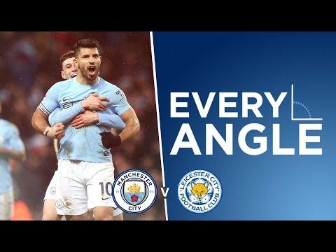 AGUERO'S INSANE STRIKE! | EVERY ANGLE: Aguero v Leicester | City 5-1 Leicester 2017/18