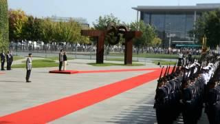 Emir von Katar bei Bundeskanzlerin Angela Merkel