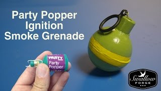 Awesome Ring-pull (friction ignition) Smoke Grenade (smoke bomb) using a party popper