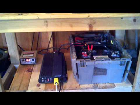 Solar Power setup for my shed. Harbor freight solar panels and inverter