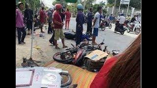Tai nạn giao thông ở Long An: Xe tải Điên tông đoàn xe máy đi dự lễ hội 1 người chết 5 bị thương