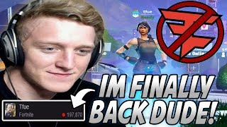 Tfue Celebrates His RETURN To Streaming After Break But Can't BELIEVE How RUSTY He Is At Fortnite!