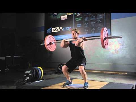Hang Clean, an EZIA Coach Olympic Weightlifting Exercise Image 1