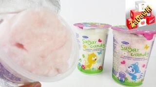 Test wyporcjowanej waty cukrowej w kubeczku - SUGAR CANDY od SNEXX - Czy to może być smaczne?