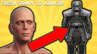 Fresh Spawn To Full Armor EASY! - Rust
