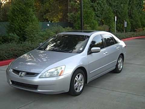 2005 honda accord exl v6 3 0l automatic loaded 6 disc changer youtube. Black Bedroom Furniture Sets. Home Design Ideas