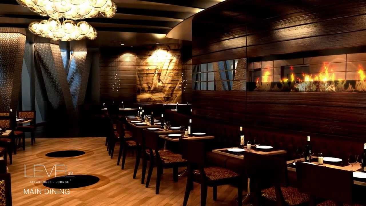 Qatar restaurant designs la vue brasserie and level 28 steakhouse lounge youtube - Design lounges ...