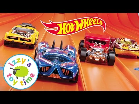 Cars for Kids | Hot Wheels 6 Lane Raceway and Fast Lane Toys - Fun Toy Cars for Kids