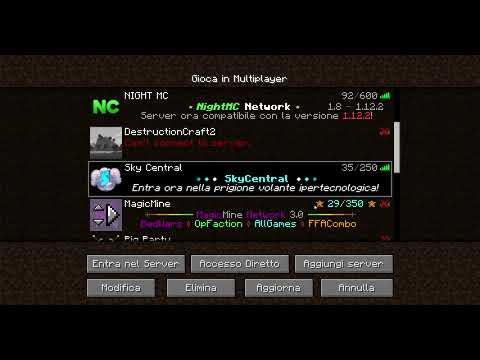 Minecraft server (italiani) sp dalla 1.8 alla 1.12,2
