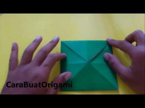 cara melipat origami boneka mulut katak