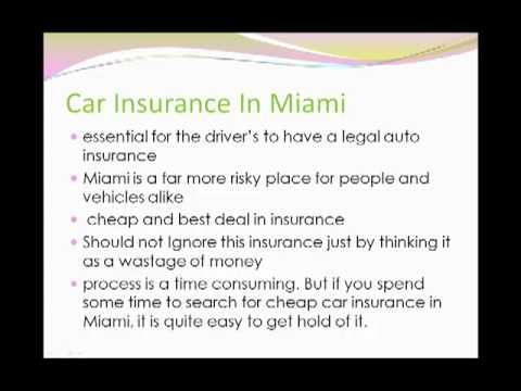Cheap and Affordable Car Insurance In Miami- Get It now!