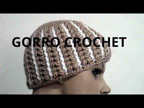 Gorro Abanico mujer en tejido crochet tutorial paso a paso.