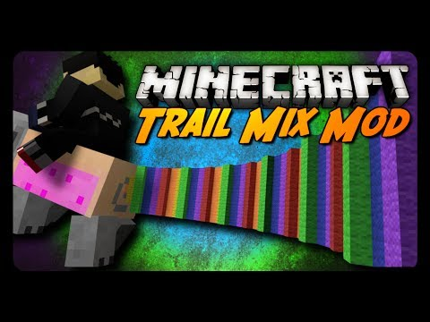 Minecraft Mod Review: TRAIL MIX MOD! (Nyan Pig Launcher, Ignition Horses & More!)
