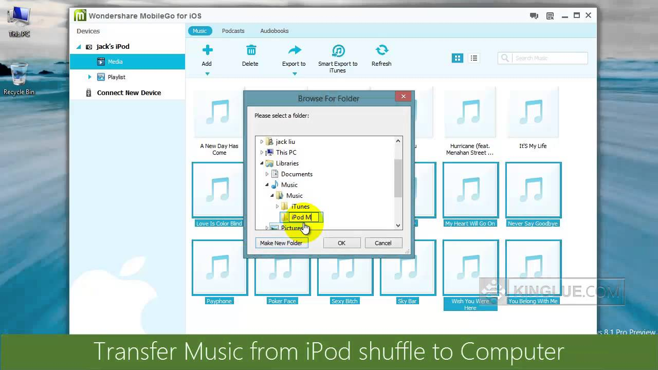 how to put music on ipod shuffle from youtube