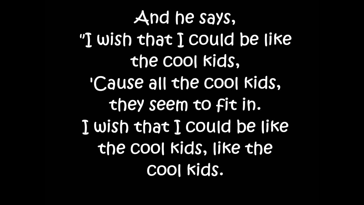 Echosmith cool kids lyrics youtube