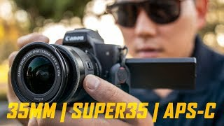 Why I don't shoot on Full Frame Cameras... yet | Crop Factors