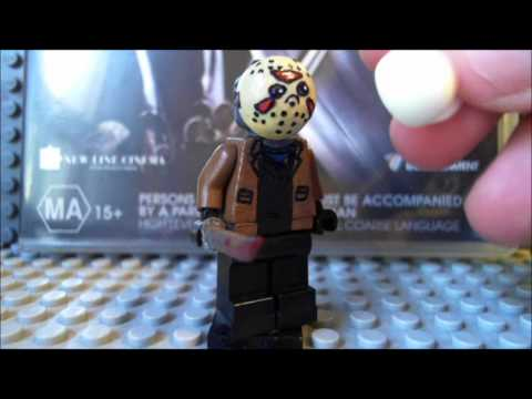 custom LEGO Freddy vs Jason minifigures