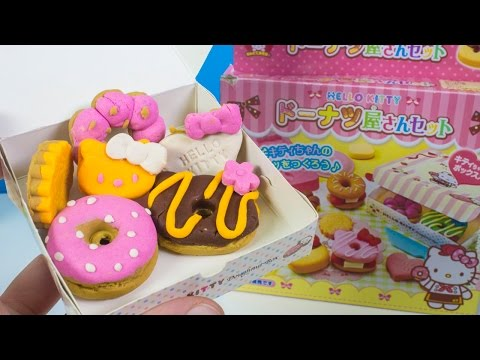 Hello Kitty Play Doh waffle How to make Playdough Doughnuts DIY ハローキティ キャラクター サンリオ Dough