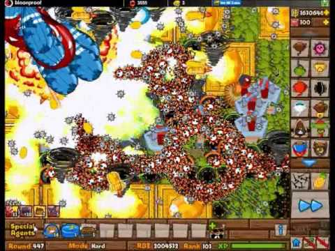 Bloons tower defense 5 level 447 youtube