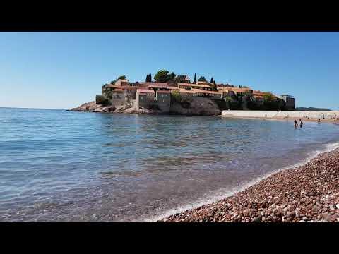 The island of Sveti Stefan in Budva Montenegro