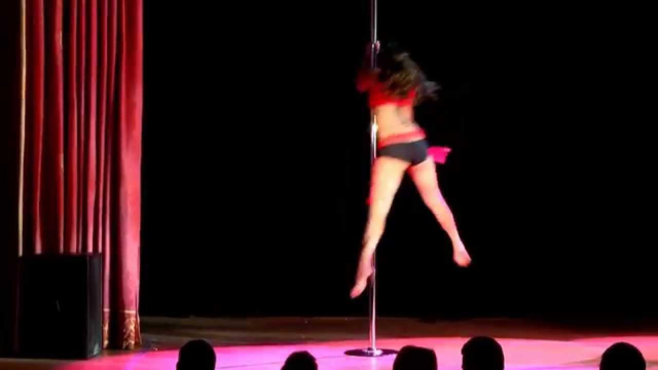 """Видео с зимнего отчетного концерта Pole dance в клубе """"Олимпия"""" 26.01.2014. Педагог Нина Козлова."""