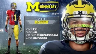 Eddie McDoom Highlights - Michigan Signing Day 2016