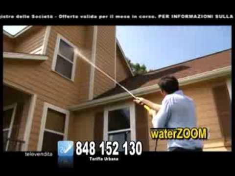WaterZoom: lancia ad alta pressione senza idropulitrice