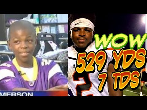 Wow - Banned Youth Football Star MONSTER GAME | 529 yds 7 TDs | Demias Jimerson Malvern High