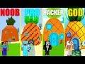 MINECRAFT BATTLE: NOOB vs PRO vs HACKER vs GOD: SPONGEBOB HOUSE CHALLENGE in MINECRAFT (Animation)