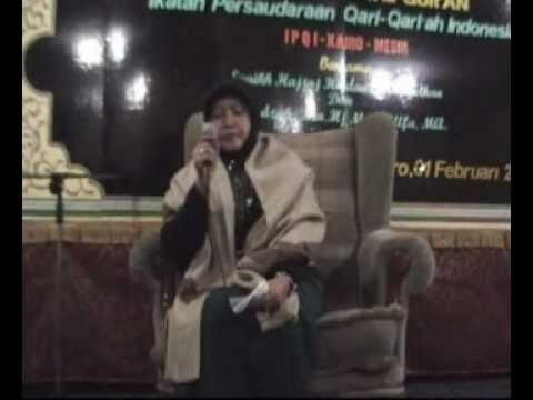 Dra. Hj. Maria Ulfa, Ma (haflah Ipqi 01 Feb 09) 01 video