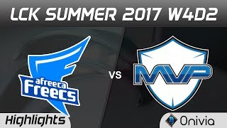 AFS vs MVP Highlights Game 1 LCK SUMMER 2017 Afreeca Freecs vs MVP By Onivia