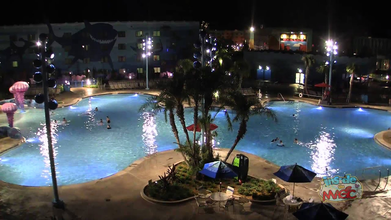Time Lapse Big Blue Pool At Disney S Art Of Animation