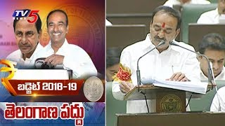 Finance Minister Etela Rajender Introduces TS Budget 2018-19 | TS Assembly Budget Sessions | TV5