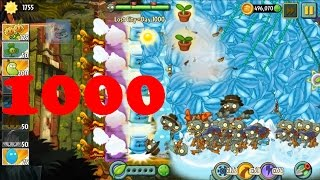 Plants vs Zombies 2 - Temple of Bloom level 1000 -  Tents of Imp Porter