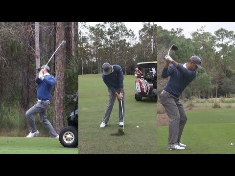 GARY WOODLAND PRACTICE ROUND SWING FOOTAGE - TIBURON GOLF COURSE REG & SLOW MOTION 1080p