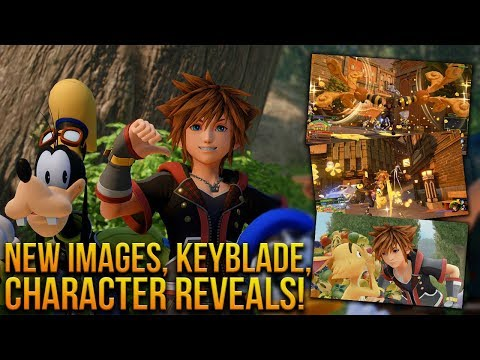 Kingdom Hearts 3 - New Images, Gameplay Scenes, Keyblade and Character Reveals!