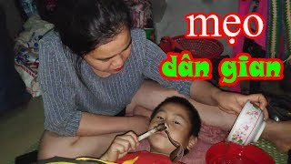 Catching Leeches In The Nose Of H'Mong Little Boy By Folk Tips | Trinh Tuong TV