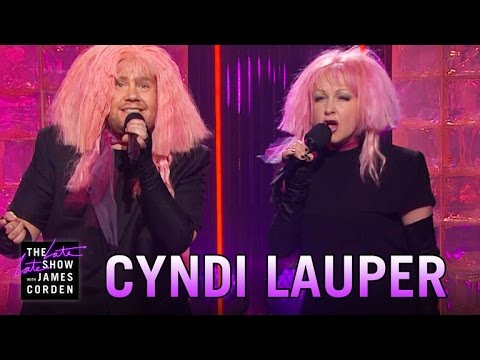 See Cyndi Lauper, James Corden Sing Girls Just Want Equal Funds news