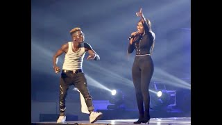 Shatta Wale and Wendy Shay at Wonder Boy Concert 2019