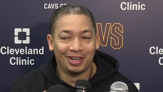 Tyronn Lue Post Practice-Interview / Feb 21 / 2017-18 NBA Season