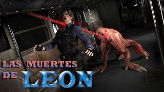 Todas las muertes de Leon-Resident Evil 2,4 y 6 (All Leon Deaths)